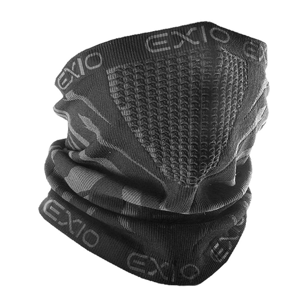 モード運命的なレイアEXIO(エクシオ) ネックウォーマー フリーサイズ 冬 防寒 防風 バイク 登山 スポーツ 速乾