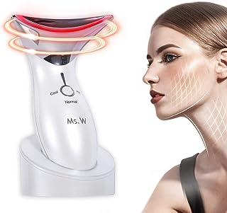 Ms.W Instrumento de Belleza Facial, Ms.W Eléctrico Fototerapia Frío Calor Abrillantamiento Rejuvenecimiento Antiarrugas Limpieza Profunda Radiofrecuencia Facial y corporal Aparato para Uso Diario