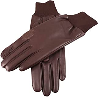 Dents Mens Royale Left Hand Leather Shooting Gloves - Brown