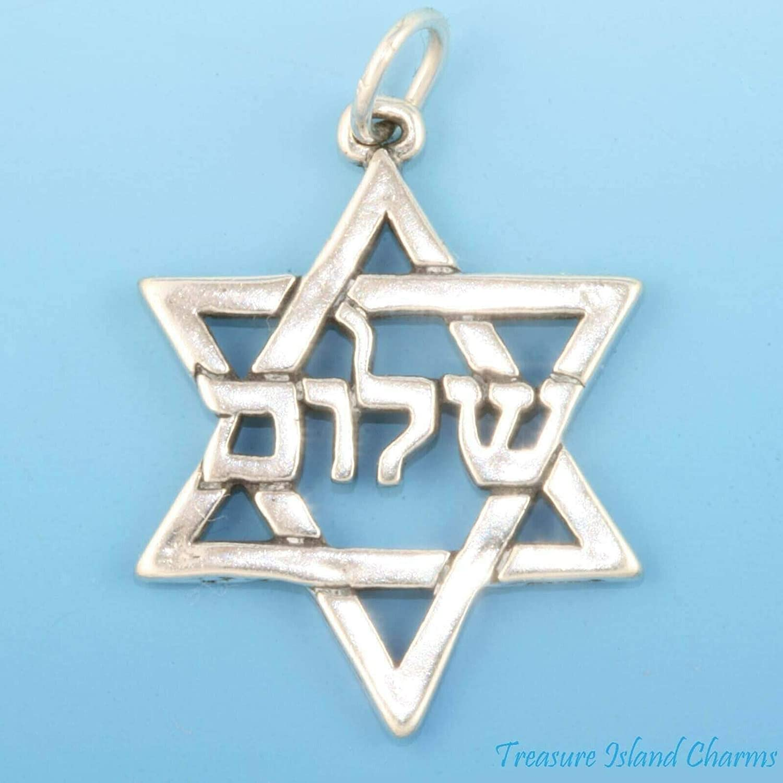 Judaic Star Super sale period limited of Max 50% OFF David Jewish Silver Shalom 925 Hexagram Sterling