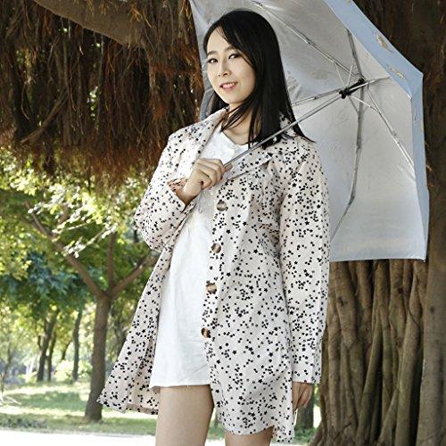 Vestes anti-pluie QFF Lovely Raincoat Femme Personnalité Adulte Coupe-Vent À Pied Voyage Longue Section Poncho Thin Ultra-léger (Couleur : Kaki)