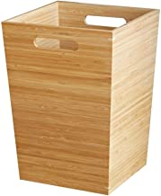 Trash can Wooden Trash Can Uncovered Square Recycling Bin Rubbish Trash Bedroom Office Waste Can Paper Bins (3.2gallon) Re...