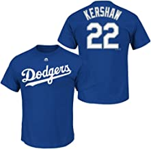 Majestic Clayton Kershaw Kids Los Angeles Dodgers Blue Name and Number Jersey T-Shirt