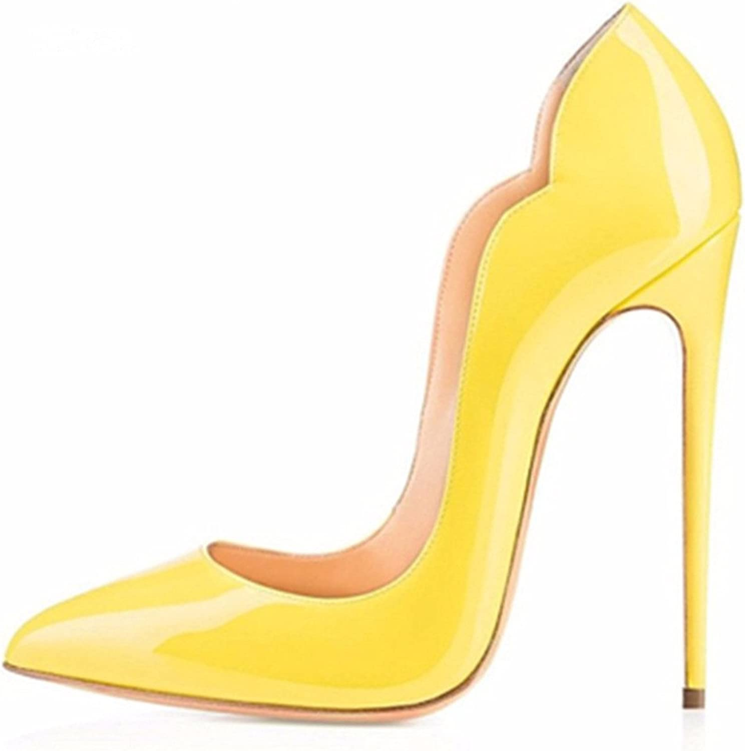 Carol Chambers New Extreme High Heels shoes for Woman 12Cm Party shoes Thin Heels Slip-On Ladies shoes Plus Size