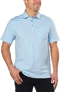 Men's Polo Shirts Short Sleeve Cotton Slub Casual Shirt