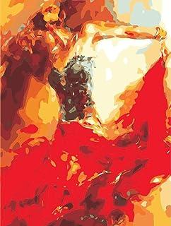 YYGM Bailarina Pintar por números Juego Completo de Pintura acrílica Regalos para compañeros o Amigos.