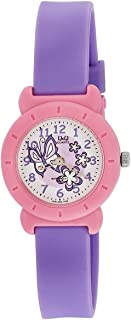 Q&Q Kid'S White Dial Plastic Band Watch - Vp81J002Y, Purple Band, Analog Display