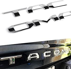 Mr Udinese Tailgate Insert Letters Compatible with Tacoma 3D Raised & Strong Adhesive Decals Letters, Tailgate Emblems Inserts Letters (Chrome)