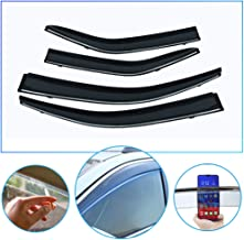 4 Pcs/Set Tape-On Outside-Mount Side Window Wind Deflectors Rain Guard for Toyota Corolla 2012-2017 Front Rear Car Rooftop Visors Accessories & Body Parts