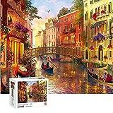 ENYACOS Puzzle 1000 Teile Venice Landschaft,Geschicklichkeitsspiel für die ganze Familie,...
