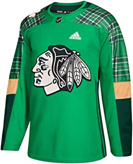 adidas Chicago Blackhawks NHL Men's Green St. Patrick's Day Authentic Practice Jersey