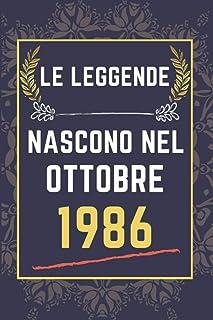 Le leggende nascono nel ottobre 1986: quaderno a righe || Regalo di compleanno per una persona nata in ottobre || Regalo d...