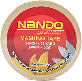 Nando Essentials Masking Tape,High Performance Adhesive, Sticks & removes Easily, Protects Your Surfaces from Paint, Gener...