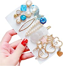 WOOKIT Pearls Hair Clips Sweet Handmade Fashion Hair Accessories for Women Girls 4pcs 7pcs 8pcs14pcs 21pcs 23pcs