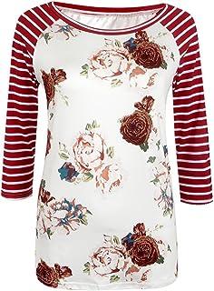 7TECH Cropped Sleeve Rose Print Top T-Shirt