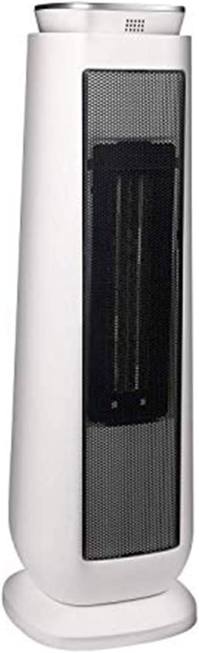 PELONIS PHTPU1501 Ceramic Tower 1500W Indoor Space Heater with Oscillation, Remote Control, Programmable Thermostat & 8H Timer, ECO Mode, Tip-Over Switch & Overheating Protection, White: image