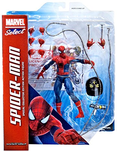 Marvel Amazing Spider-Man 2 Select Spider-Man Action Figure [Includes Fire Helmet & Hands]