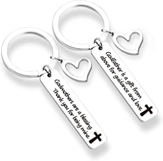ZNTINA Godparent Gifts Godmothers are a Blessing Keychain First Communion Gift Godfather Keyring Godparent Gifts for Baptism