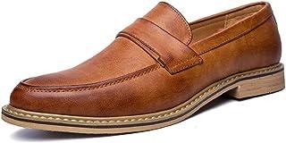 Oxford Chaussures pour Hommes Slip on Bout Pointu Robe Chaussures Classiques Britannique De Mariage Partie De Bal Apparteh...