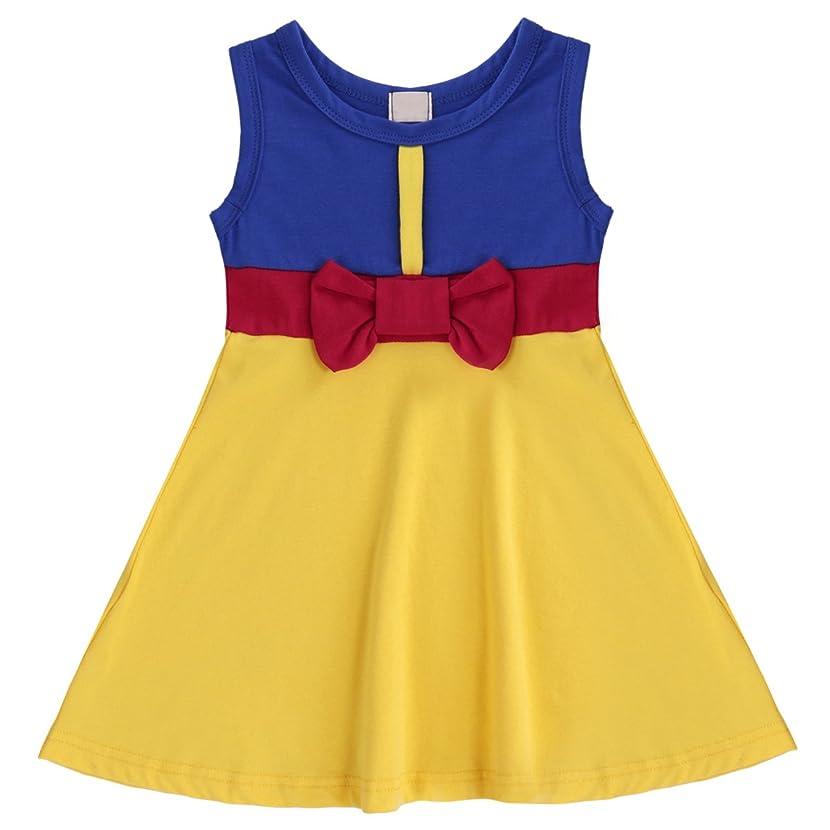 Little Girl Princess Costume Snow White Ariel Mermaid Minnie Dress Cartoon Fancy Birthday Party Tutu Dress up Gown