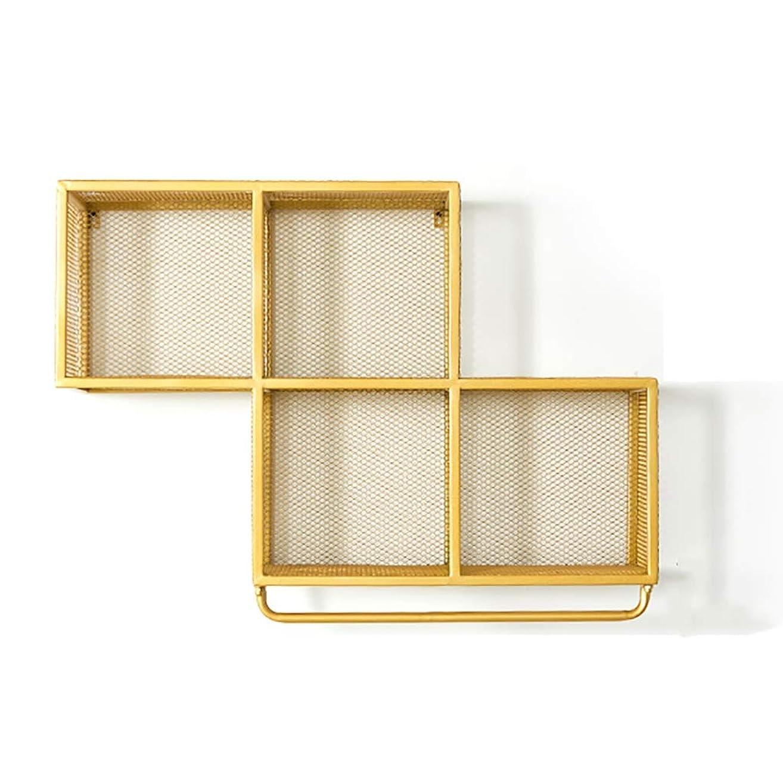 懸念宿る絶縁するゴールデン塗装洋服棚、鉄棚付き壁掛けガーメントロッド、ホーム衣料品店用ハンガー収納ロッド (Color : B)