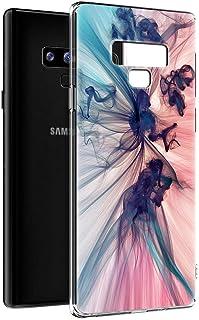 Funda Samsung Galaxy Note 9, Eouine Cárcasa Silicona 3D Transparente con Dibujos Diseño [Antigolpes] de Protector Bumper Case Cover Fundas para Movil Samsung Note9 2018-6,4 Pulgada (Humo Colorido)