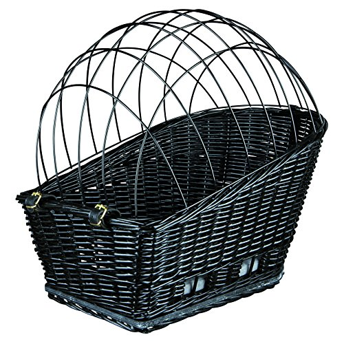 Trixie 13117 Fahrradkorb mit Gitter, 35 × 49 × 55 cm, schwarz