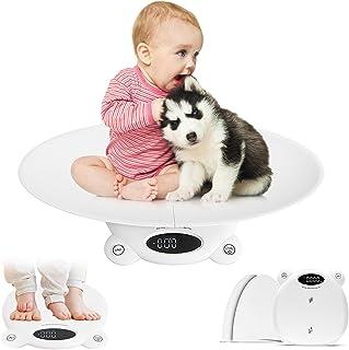 ترازوی کودک دیجیتال Buumin ، ترازوی حیوان خانگی ، ترازوی چند منظوره نوزادان مقیاس وزن مادر تقسیم شده با 3 حالت توزین (کیلوگرم/اونس/پوند) برای کودکان نوپا/توله سگ/گربه/سگ/بزرگسالان 20g-120kg