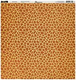 Reminisce Jungle-icious 12 by 12-Inch Double Sided Scrapbook Paper, Giraffe Print