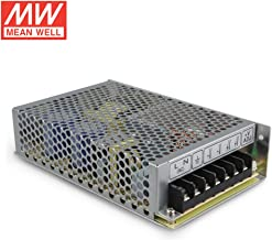 Mean Well RS-100-15 Enclosed Switching AC-to-DC Power Supply, Single Output, 15V, 0-7A, 105W, 1.5 H x 3.8 W x 6.3 L