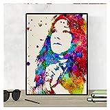 Nacnic Janis Joplin Aquarell Poster. Wasserfarbe Stil