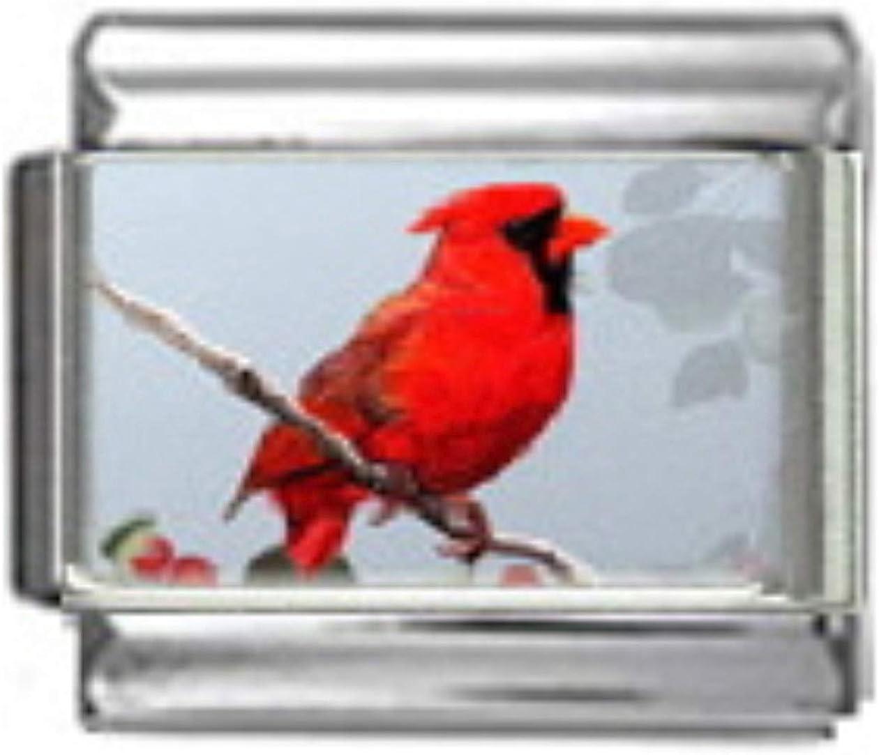 Stylysh Charms Cardinal Northern Max 44% OFF Bird 9mm Italian BI0 Link price Photo