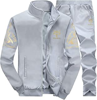 Sodossny-AU Men's Jackets Pants Sweatsuit Two-Piece Sets Active Running Workout Tracksuits