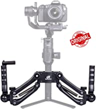 DIGITALFOTO DH04 Z Axis Flexiable Damping Spring Dual Handle Grip Bracket Holder Compatible for ZHIYUN Crane 2/Plus/V2 MOZA FEIYU DJI Ronin S Smartphone Gimbal Smooth 4 OSMO 2 Freefly 3 Axis Gimbal