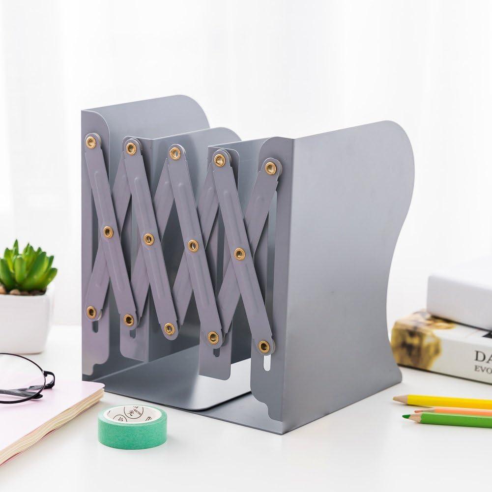 Desktop At the price Finally popular brand of surprise Adjustable Metal Bookends Expanding Folder Holder R File