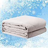 Summer Cooling Comforter for Hot Sleepers, Full/Queen Size Avolare Lightweight Cooling Blanket, Ultra Soft Down Alternative Comforter, Japanese Arc-chill Q-max0.5 Fiber, Machine Washable(Stripe Gray)
