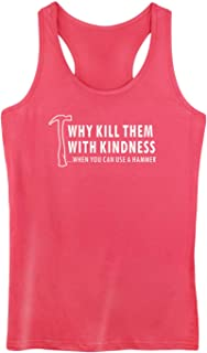 GROWYI Womens Workout Tank Tops Racerback Why Kill Them with Kindness Funny Saying TV Fitness Gym Sleeveless Shirts