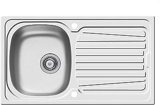 Pyramis Sparta 86x50 1B 1D Edelstahlspüle Drehexzenter Küchenspüle Einbauspüle
