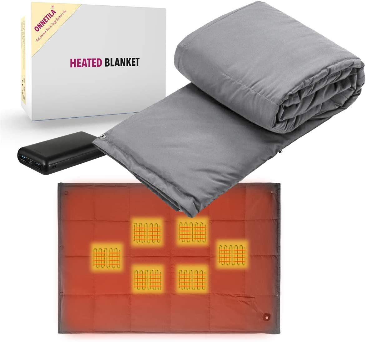 Portable Battery Powered Heated Blanket Bl Animer and price revision Electric Brand new Heating Fast