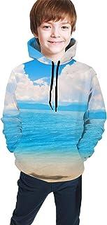 Summer Sand Beach Kids/Teen Boys Girls Hoodie,3D Print Pullover Sweatshirts