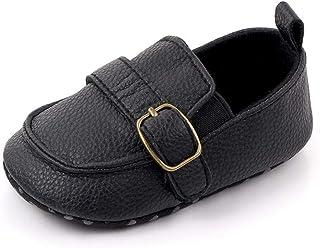 Noir Chaussure Bebe Garcon 6-12 Mois Premiers Pas Moccasins Bébé Mode Souple Plate Antidérapants
