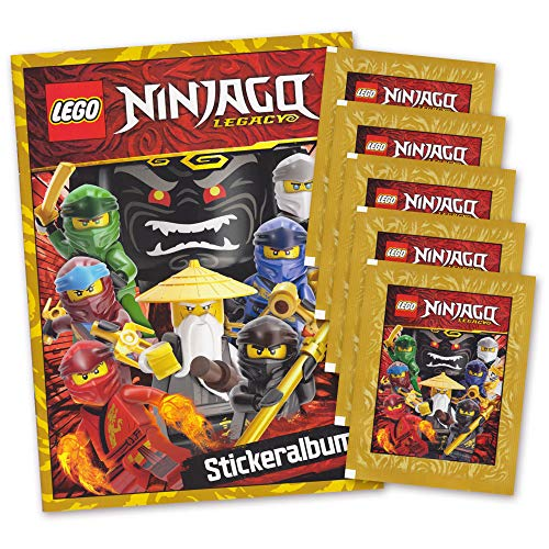 serie Ninjago Legacy Sammelbilder Edition 2020 - Starter Album + 5 Booster Packungen Sticker