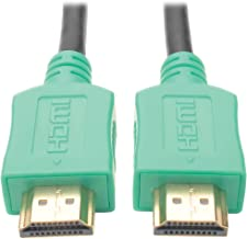 Tripp Lite High-Speed HDMI Cable with Digital Video and Audio, Ultra HD 4K x 2K (M/M), Green, 10 ft. (P568-010-GN)