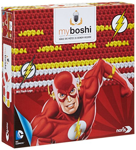 Noris 606311366 - Myboshi Superhelden  - Flash, Häkel-set