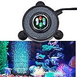 QQI Luce LED per Acquario, Luci LED Sommergibili per Acquario a Gradiente Colorato, Lampada a Bolle Rotonde per Decorazioni per Acquari - È Necessario Collegare Una Pompa d'Aria per Generare Bolle