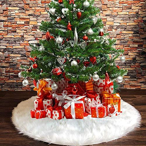 Decke Weihnachten Deko,Christmas Tree Skirt,Christbaumständer Teppich,Christmas Tree Rock,Weihnachten Baum Rock,Weihnachtsdekoration,Weihnachten Baumrock,Weihnachtsbaum Rock,weihnachtsschmuck (90cm)