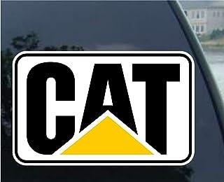 Yilooom Cat Stickers Decals Toolbox Diesel Bull Dozer Escavator Backhoe Loader - Die Cut Vinyl Car Decal Sticker Bumper Window Sticker 2 Pack 6 Inches At Longest End