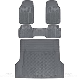 BDKProLiner Gray All Weather Rubber Auto Floor Mats & Cargo Liner – Heavy Duty..