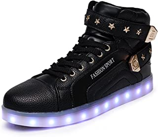 Unisex LED Shoes High Top Breathable Sneakers Light up Shoes for Women Men Girls Boys