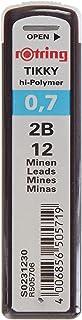 rOtring Lead Refills Hi-Polymer for Fine Mechanical Pencils 0.70mm 2B (12 Leads)